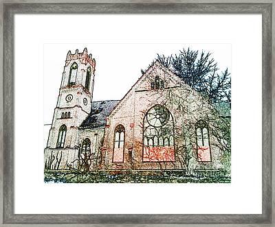 Old Church In Fresco Framed Print