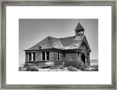 Old Schoolhouse In Washington State 2 Framed Print by Cathy Anderson