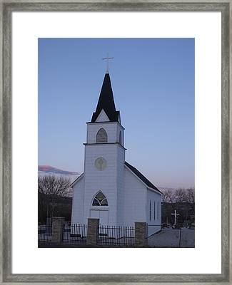 Old Church Framed Print by Yvette Pichette