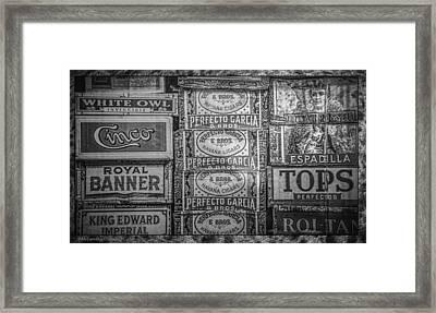 Old Cigar Boxes Framed Print by LeeAnn McLaneGoetz McLaneGoetzStudioLLCcom