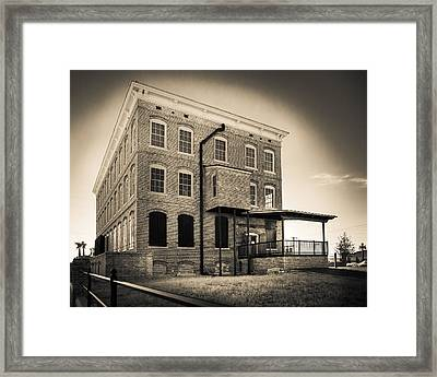 Old Cigar Factory Framed Print by Ybor Photography