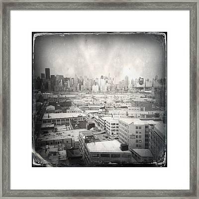 Old City 3 Framed Print by H James Hoff