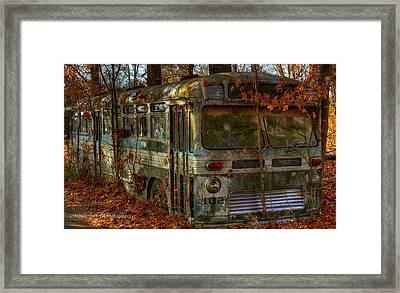 Old City Bus Framed Print by Paul Herrmann