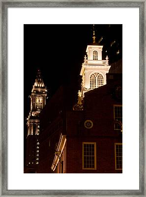 Old City Hall And Custom House Tower Framed Print