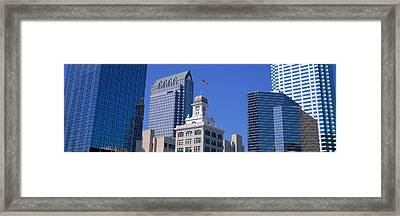 Old City Hall Cityscape Tampa Fl Framed Print by Panoramic Images