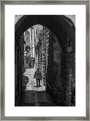 Old City Jerusalem Streets Framed Print