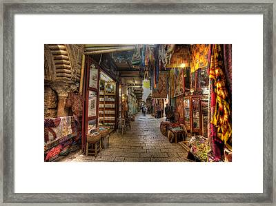 Old City Market Framed Print