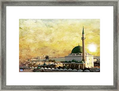 Old City Of Acre Framed Print by Catf