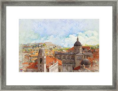 Old City Of Dubrovnik Framed Print by Catf