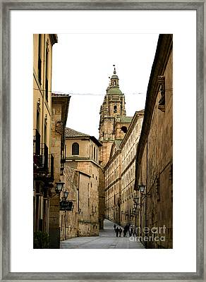 Old City Of Salamanca Spain Framed Print
