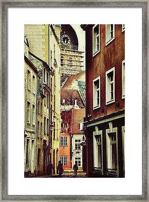 Old City Street Framed Print by Gynt
