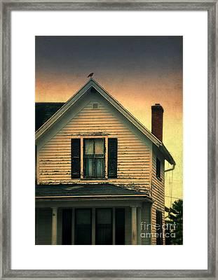 Old Clapboard House Framed Print by Jill Battaglia