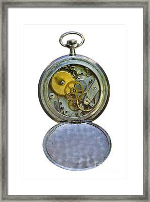 Old Clock Framed Print by Michal Boubin