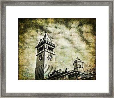 Old Clock Tower Framed Print by Perry Webster
