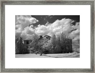 Framed Print featuring the photograph Old Coast Guard Barracks On Winter Island by Jeff Folger