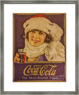 Old Coca Cola Sign Framed Print by Mitch Shindelbower