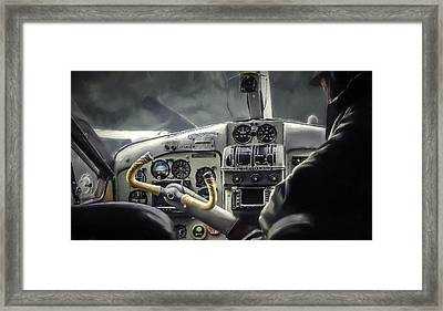Old Cockpit Framed Print by Barb Hauxwell