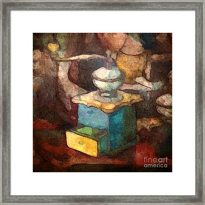 Old Coffee Grinder Framed Print by Lutz Baar