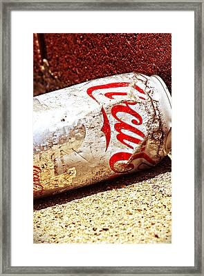 Old Coke Can Framed Print