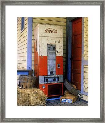 Old Coke Machine Framed Print