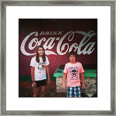 Old Coke Mural, Munday Tx. #coke Framed Print