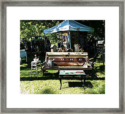 Old Collectibles Framed Print by Avis  Noelle