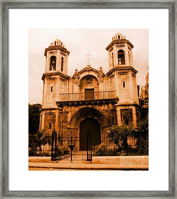 Old Colonial Church In Varadero Cuba Framed Print by John Malone