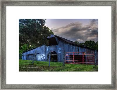 Old Conasauga Barn  Framed Print by Paul Herrmann