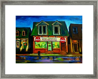 Old Confectionary Store Framed Print
