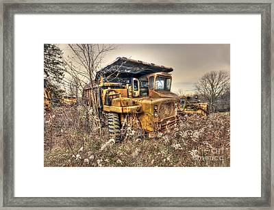 Old Construction Truck Framed Print by Dan Friend