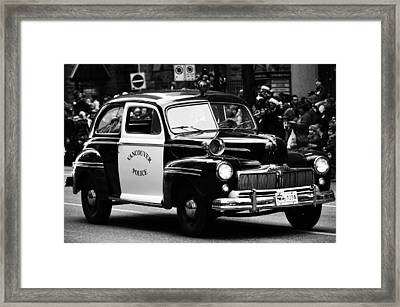 Old Cop Car Framed Print by Jerry Cordeiro