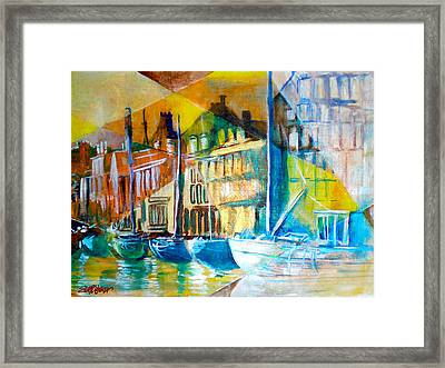 Framed Print featuring the painting Old Copenhagen Thru Stained Glass by Seth Weaver
