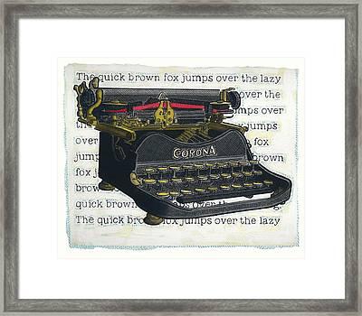 Old Corona Framed Print by John Judge