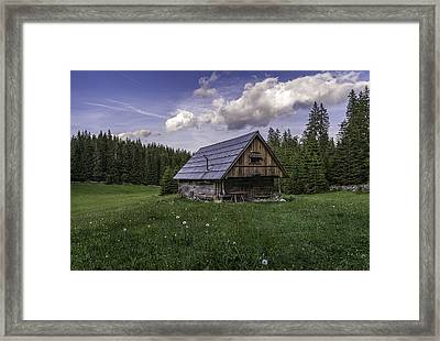 Old Cottage Framed Print by Robert Krajnc