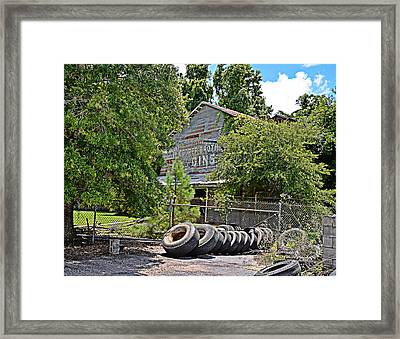 Old Cotton Gin Framed Print by Linda Brown