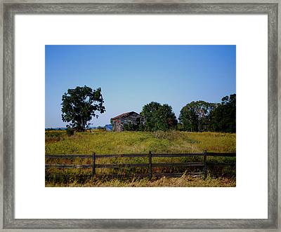Old Country Barn Framed Print by Maggy Marsh