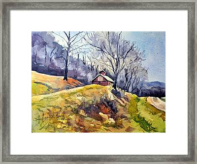 Old Country Barn Framed Print by Spencer Meagher