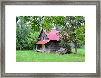 Old Country Cabin Framed Print by Bob Jackson