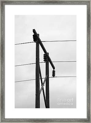 Old Country Power Line Framed Print