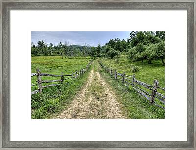 Old Country Road Framed Print by Donna Doherty