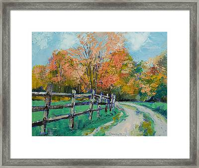 Old Country Road Framed Print
