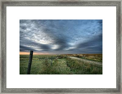 Framed Print featuring the photograph Old Country Road by Shirley Heier