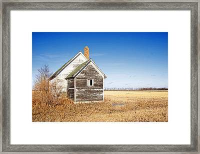 Old Country School Building Framed Print by Donald  Erickson