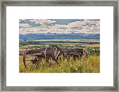 Old Country Wagon Mountains Framed Print by Rob Moses