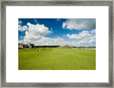Old Course Fairways Framed Print by Jeremy Voisey