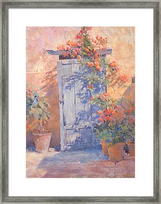 Old Courtyard Door Framed Print by Jackie Simmonds
