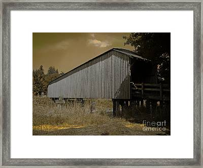 Old Covered Bridge  Framed Print by Beverly Guilliams