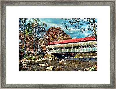 Framed Print featuring the photograph Old Covered Bridge by Kenny Francis
