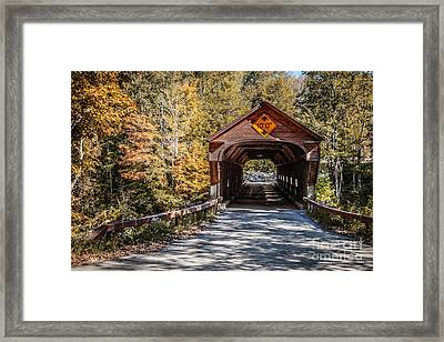 Old Covered Bridge Vermont Framed Print by Edward Fielding