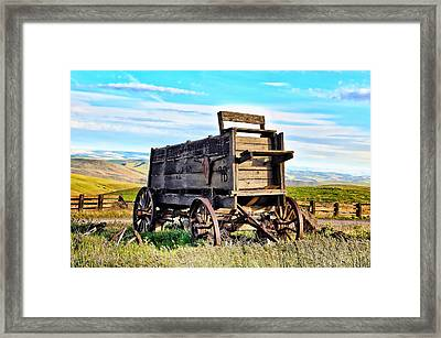 Old Covered Wagon Framed Print by Athena Mckinzie